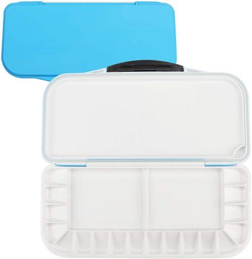 Belle Vous Caja Acuarela Vacía Azul Paleta 18 Compartimentos