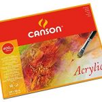 Canson Acrylic, Papel de acuarela de Grano Fino 400G x 10 hojas