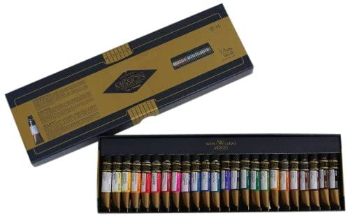 Mission Gold Water Color Set, 24 Colors by Mijello Mission Gold Class