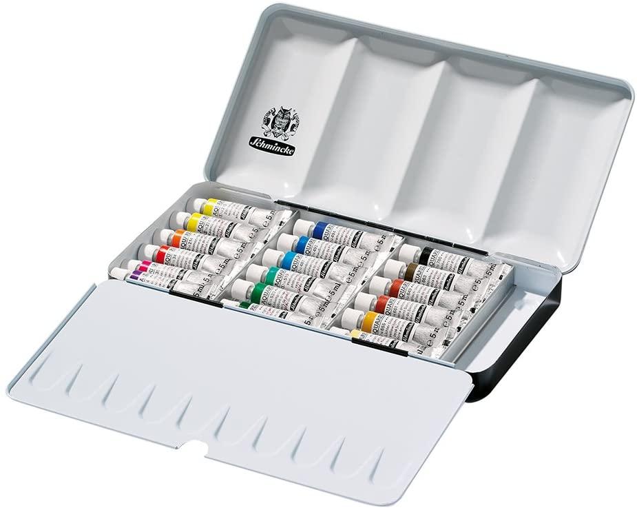Schmincke Horadam Aquarell 74118097 - Juego de tubos de pintura (5 ml, 18 colores)